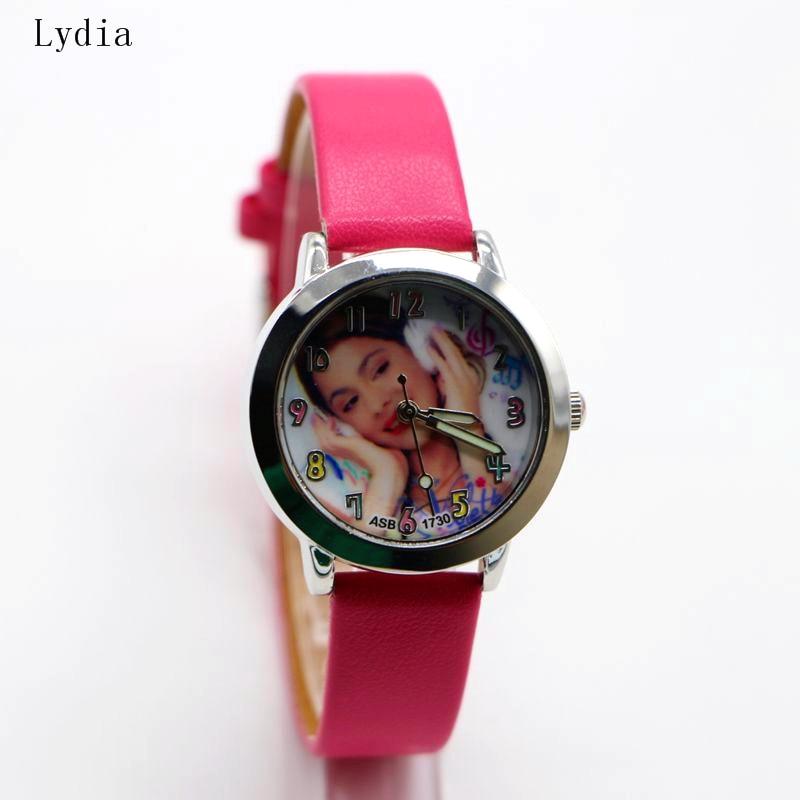 Cute Violetta Watch For Children Girls Kids Leather Band Wristwatch New Fashion Casual Quartz Cartoon Clock Reloj Montre fashion cute cartoon pu band students watch