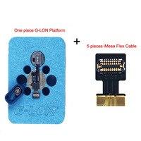 G 経度 iMesa 指紋 FPC コネクタソケットフレックスケーブル指紋加熱プラットフォームため iphone 7 7 1080P 8 8 の P タッチ ID キーセット