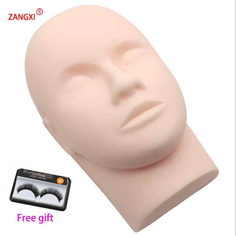 Soft Massage Eyelash Training Head Eye Facial Eyelash Extension Makeup Practice Cosmetic Dummy Professional Mannequin Heads Tool