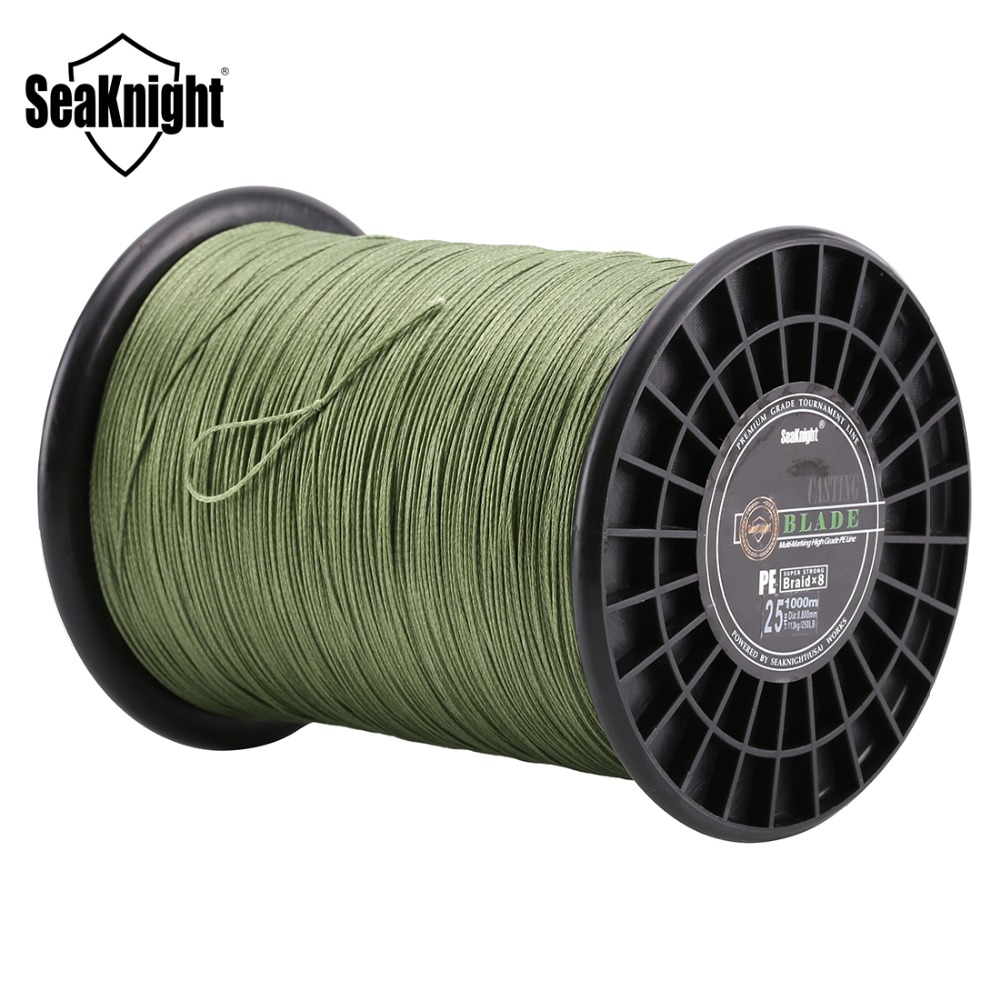 SeaKnight BLADE 1000M Braided Fishing Line 8 Strands Weaves Multifilament PE Line 120-300LB Saltwater/Freshwater Fishing Tackle