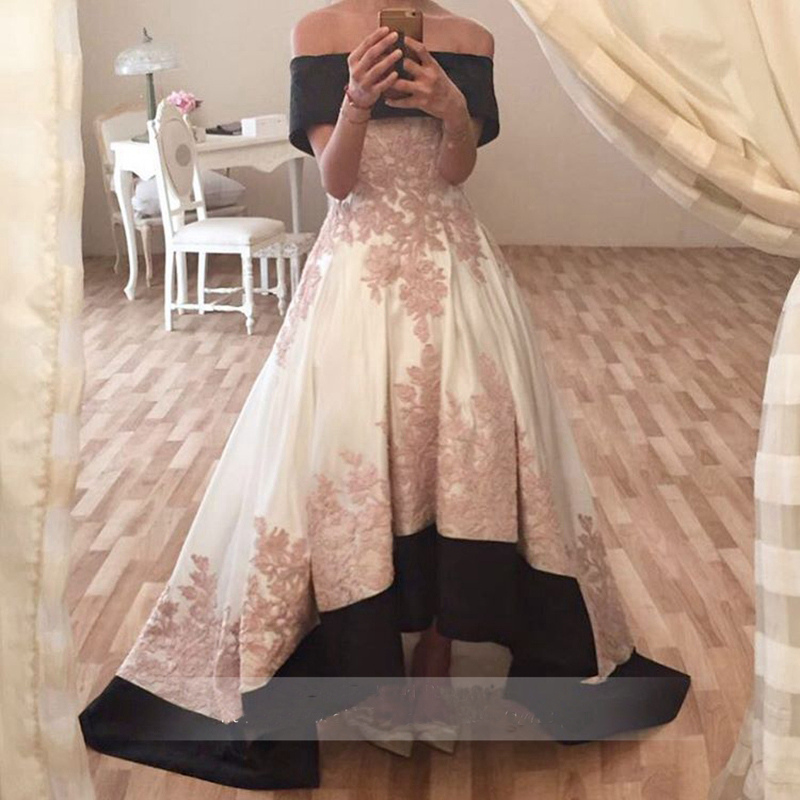 PW013 Elegant Boat Neck Prom Dresses 2017 New Pink And