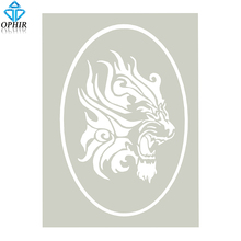 OPHIR A4 Size Tiger Pattern Airbrush Template For Body Paint Glitter Tattoo Stencil _STE005C