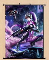 Game Overwatch Widowmaker Home Decor Poster Wall Scroll