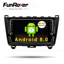 Funrover  Android 8.0 8″ Car DVD Multimedia Player Stereo for MAZDA 6 2008 -2015 GPS Navigation Steering-Wheel IPS Touch Screen