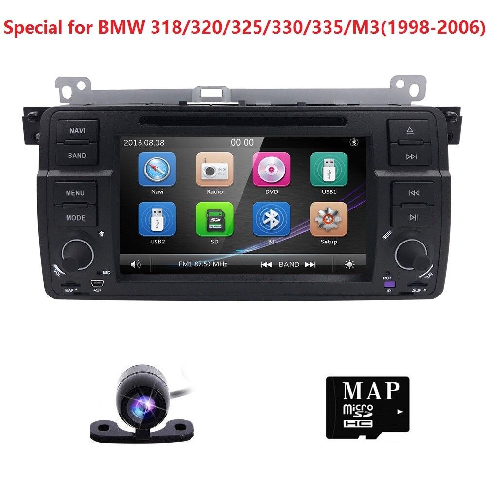 2din 7 дюймов dvd-плеер автомобиля для BMW E46 M3 3 серии MG Rover gps головного устройства 800*480 2 DIN dvd-монитор SWC RDS AM/FM DVBT сзади CAM