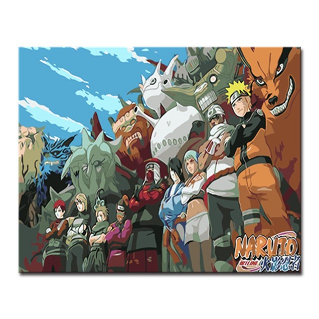 DIY By Numbers Kits Coloring Painting Naruto Acrylic Paint
