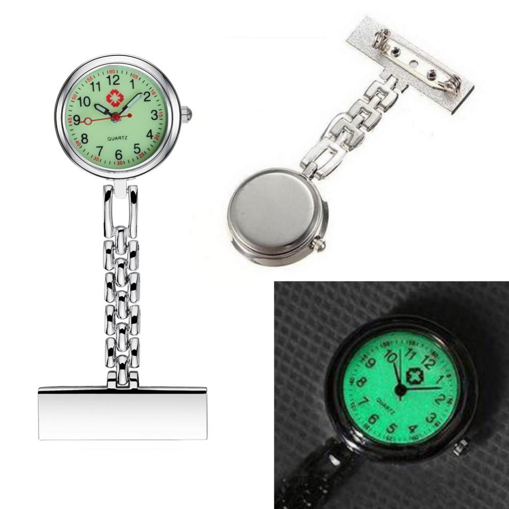 Nurse Luminous Watch 2019 New Fashion Senior Professional Medical Dial Brooch Clip Quartz Pocket Watches Noctilucent Fluorescent