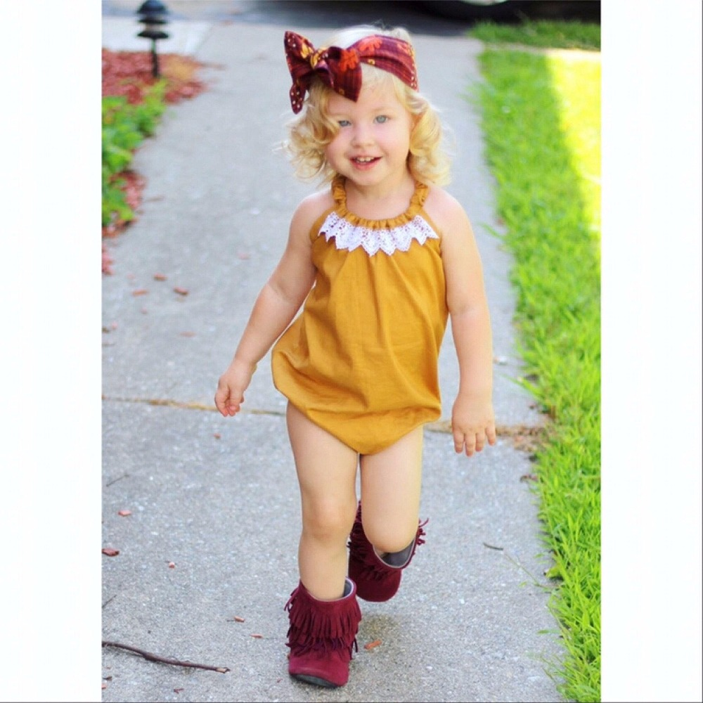 New summer 2018 strap lace cotton baby girl triangle romper onesies romper245GD0607