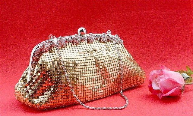 gold shinning small round sequins Handbag,Clutch Purse bride bag,aluminium flake evening bags,1pcs Mixed Batch-Free shipping