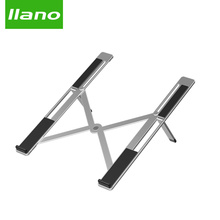 Silver Aluminum Laptop Stand Tablet Stand Universal for Apple MacBook Air Pro 11-15 inches Folding Adjustable Office Notebook universal folding portable laptop stand aluminum cooling adjustable desk stand pc tablet holder for macbook air pro