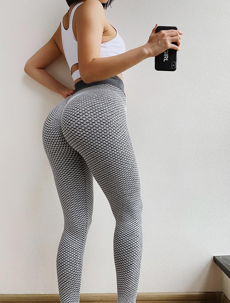 NORMOV Seamless Fitness Women Leggings Fashion Patchwork Print High Waist Elastic Push Up Ankle Length Polyester Leggings 6