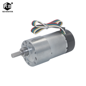 Image 1 - 12V 24VDC 7 1600RPM 37mm Gearbox High Torque Eccentric Shaft Gear Motor With Hall Encoder Geared Motors with protective cap