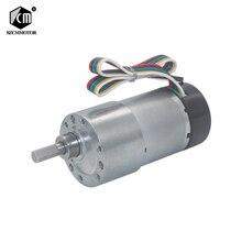 Motor de engranaje de eje excéntrico de alta torsión, caja de cambios de 12V, 24VDC, 7 1600RPM, 37mm, con codificador Hall, motorreductor con tapa protectora