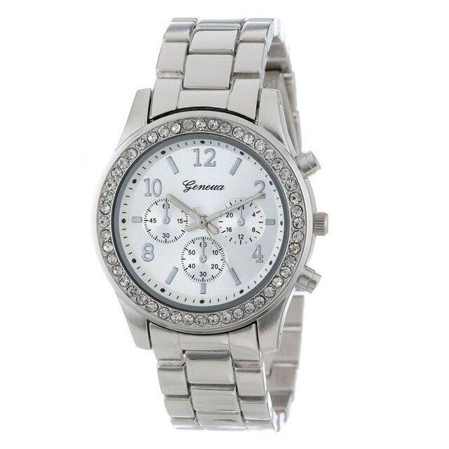 Fashion women's watches ladies wrist watches Faux Chronograph Quartz Plated Clas