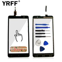 Top Quality HighScreen Touchscreen For Lenovo S898 S898T Touch Screen Digitizer Panel Front Glass Sensor + Sticker Free Shipping