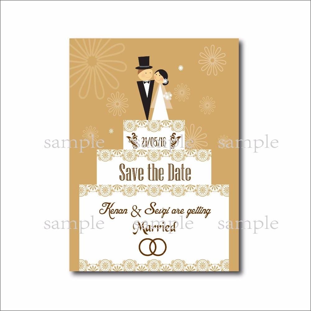 20 pcs/lot Custom Cartoon Wedding invitations Save the Date Postcard ...