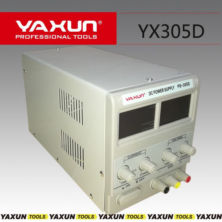Free Shipping YAXUN Variable 30V 5A DC Power Supply For Lab PS 305D 110V 220 adjustment