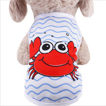 Cartoon Pet Dog Clothes Cat T-shirt Clothing For Dogs Costume Summer Small Shirt