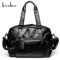LEVELIVE New Fashion Men's Designer Handbag Male Soft Leather Messenger Bag for Men Travel Bags Brand Man Shoulder Crossbody Bag