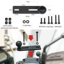 Montaje de bomba de manillar JINSERTA con bola de 1 pulgada Compatible con soportes de Ram para cámaras de acción Gopro Dslr, Sjcam, teléfonos inteligentes