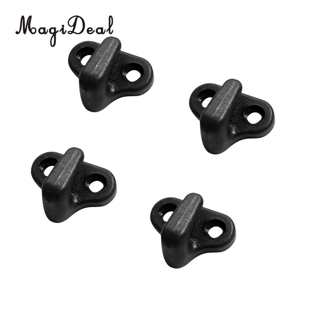 Magideal High Quality 4 Pack Black Lashing Hook Bungee