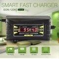Filho genuíno automático cheio smart 12 v 6a chumbo ácido/gel carregador de bateria com display lcd eua/plug ue