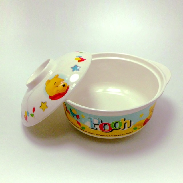 Winnie the Pooh Shock-resistant Bowl with Lid Melamine Soup Bowl Topgrade Fruit Tray Melamine & Winnie the Pooh Shock resistant Bowl with Lid Melamine Soup Bowl ...