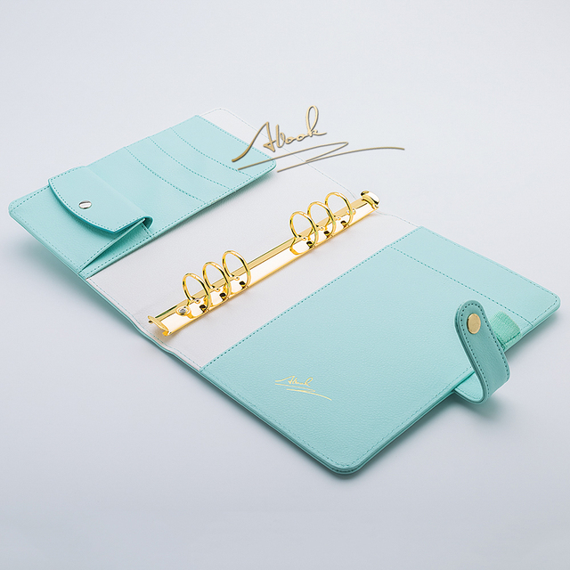 abook free shipping 2018 new a5 mint color gold ring planners agenda