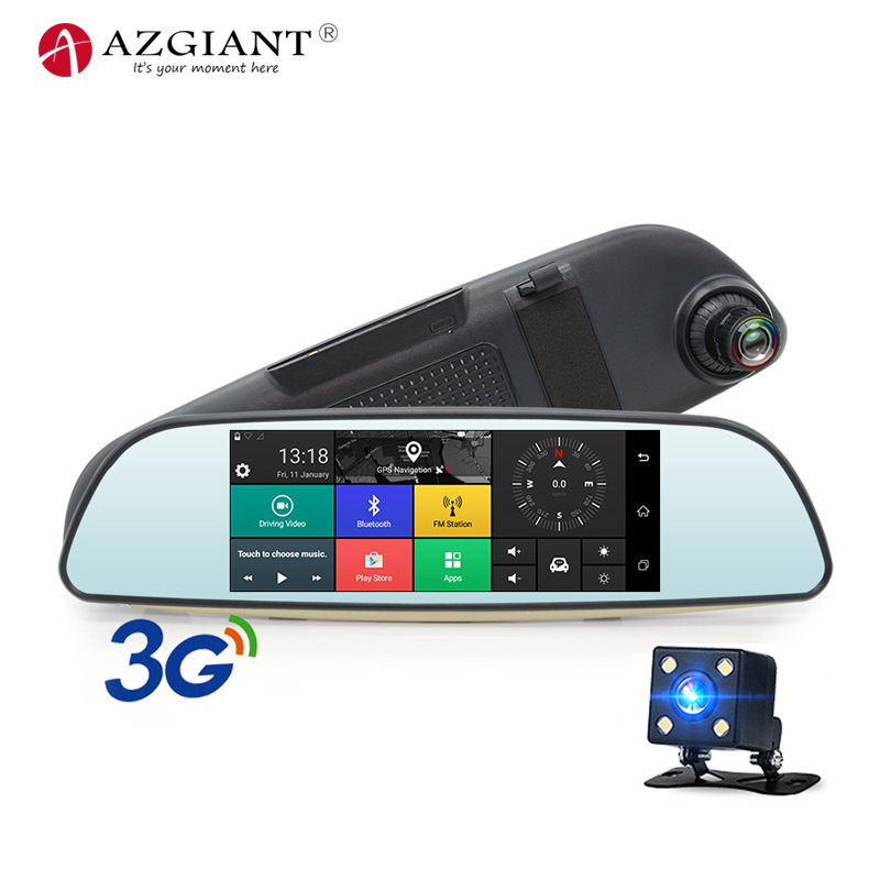 AZGIANT Car-Dvr Blutooth Dash-Cam Android Register Video-Recorder Rear-View Full-Hd Support