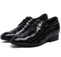 Serpentine Grain Height Increasing Mens Business Shoes Genuine Leather Wedding Shoes Mens Dress Shoes Grow Taller