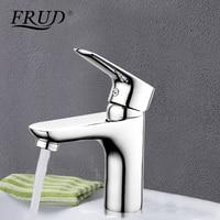 Frud 1set Chrome Silver Brass Bathroom Basin Faucet Water Mixer Sink Tap Banyo Musluk Bathroom Taps