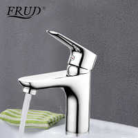 Frud 1set chrome silver brass bathroom basin faucet water mixer sink tap banyo musluk bathroom taps bath water faucets R10105