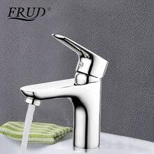Frud Juego de grifos de latón plateado cromado para lavabo, mezclador de agua, para baño, Sanyo musluk, r105, 1 unidad