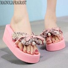 933f36be3 Chinelos feminino sandálias de comércio exterior mulheres moda feitos à mão  chinelos de plataforma de praia sapatos de verão san.