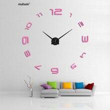 3d diy acrylspiegel horloge heet huishorloge 2018 nieuwe muurklokhorloge klokken stickers woondecoratie woonkamer abstract
