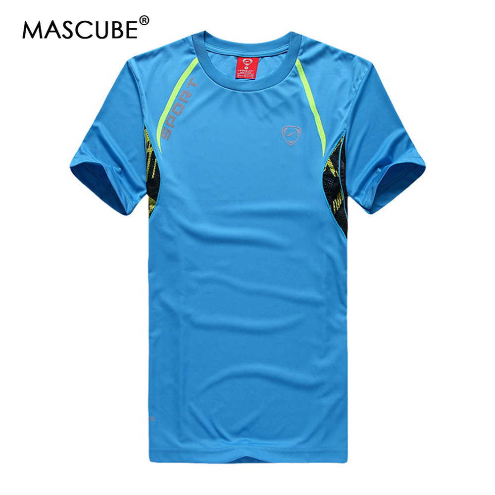 MASCUBE Gym Clothing Bodybuilding Fitness Men Basketball Running T-shirt Quick-dry Breathable Training Sport Reflective T-Shirts