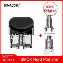 Оригинальный SMOK Nord Замена Pod картридж 3 мл с Nord катушки для SMOK NORD Pod Комплект для электронная сигарета SMOK nord vape