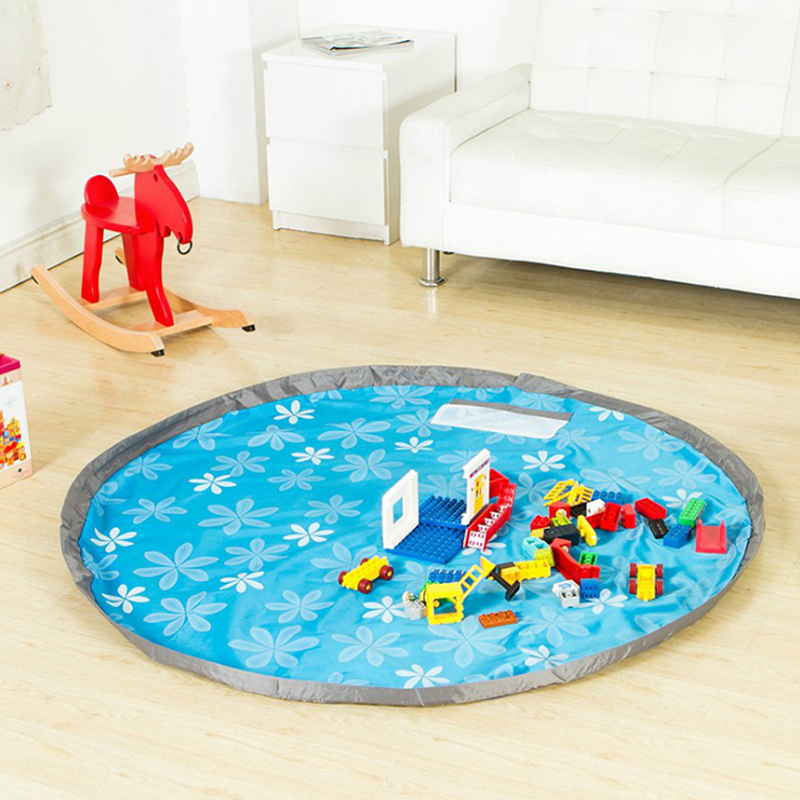 Portable Kids Toy Storage Bag Thickening Kids Toys Quick Finishing Bag Oxford Beam Storage Bag Baby Play Mat Toy Organizer