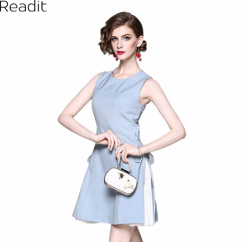 ̿̿̿ readit mujeres verano vestido elegante blanco plisado forro jpg 801x801 Falda  plisada vestidos azul cielo bdeb69224063