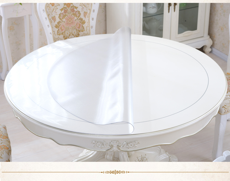 superior nappe ronde transparente 9 2016 nouvelle 1 5 mm pais pvc souple transparent nappe de. Black Bedroom Furniture Sets. Home Design Ideas