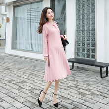 2061# 2018 Autumn Winter Fashion Maternity Long Dress Thicken Warm Knitted Clothes for Pregnant Women Pregnancy Sweater Clothing