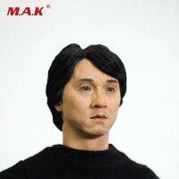 China Estrela Masculina do Jackie Chan Esculpe Cabeça Modelo Brinquedos 1/6 Escala Homem Cabeça Desejo Modelo Novo KM13-41For 12