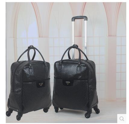 22 Inch PU leather Women Travel Trolley Bags Rolling Case Women trolley luggage Bags on wheels Baggage Suitcase Travel Duffle travel luggage trolley bags rolling baggage nylon waterproof travel wheeled bags luggage suitcase on wheels travel duffles tote