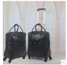 22″ Inch PU leather Women Travel Trolley Bags Rolling Case Women trolley luggage Bags on wheels Baggage Suitcase Travel Duffle