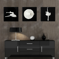 Modern minimalist relief three dimensional ballet painting pendant living room background wall decoration