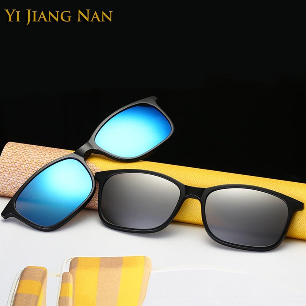 Yi Jiang Nan Brand Diseñador de la moda Gafas Hombres Clip Lentes - Accesorios para la ropa