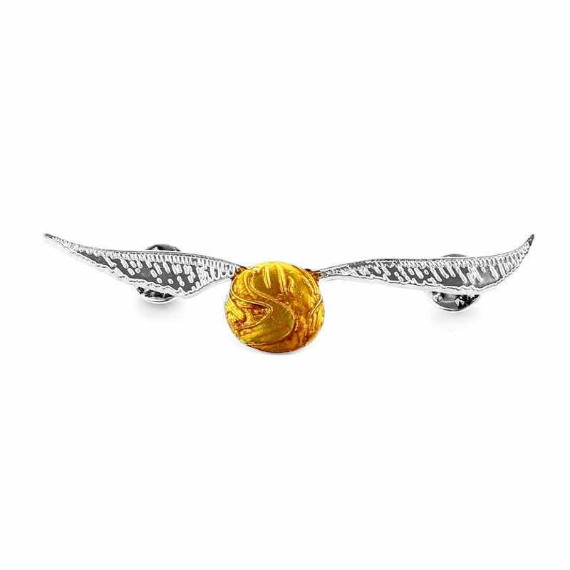 Харри Поттер Пожиратели смерти Золотой снитч шар Металлический бейдж; брошь на булавке Deathly Hallows Luna lovegood очки брошь Прямая поставка