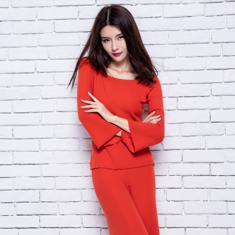 adohon 2018 womens musim dingin Wanita Set sweater Kasmir dan celana - Pakaian Wanita - Foto 6