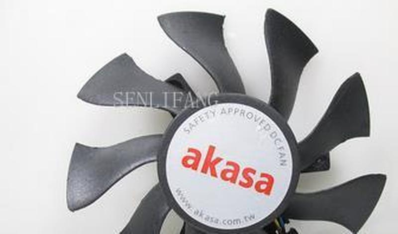 Free Shipping For Akasa DFL801512H-Y Graphics Cooling Fan DC 12V 0.19A 4-wire