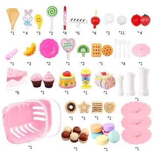 Image 3 - 147個子供のキッチンのおもちゃの少女ケーキ誕生日ミニチュア食品スタンドセットふり再生教育おもちゃ子供のギフト